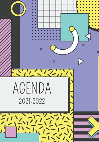 I Thème Retro I Agenda 2021-2022: Primaire, Collège, Lycée, Etudiant Toute l'année scolaire avec les différentes zones et la liste des jours fériés