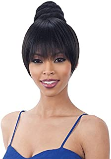 SWIRL BUN BANG (1 Jet Black) - Freetress Equal Synthetic Bun & China Bang