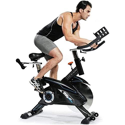 YXYY Bicicleta estática aeróbica, Bicicleta estática para Interiores, Bicicleta giratoria, Pantalla LCD, con Manillar Ajustable, Rueda Volante de 44 Libras y Sensor de Bicicleta con Correa