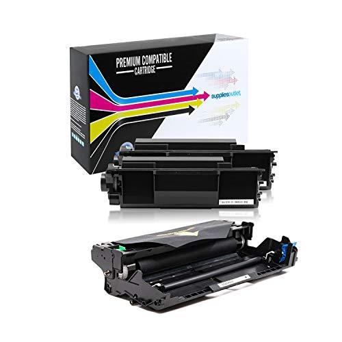 SuppliesOutlet Compatible Toner Cartridge and Drum Unit Set for Brother TN850 / TN-850 / DR820 / DR-820 (2 Toner,1 Drum)