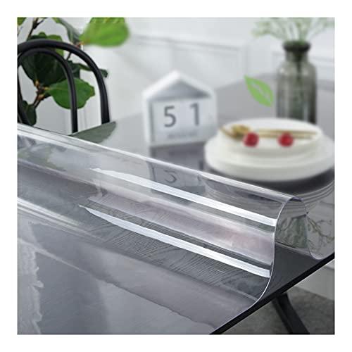 TMGJ Mantel Transparente,Protector De Mesa,PVC Material,Impermeable,Resistente Al Desgaste,Resistente Altas Temperaturas,Soporte De PersonalizacióN,para Comedor,Sala Estar(Color:2mm,Size: 60x110cm)