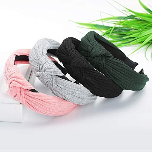 XdiseD9Xsmao duurzame normale lak gestreepte haarband, gevoelige lichte hoofdband hoofdband voor vrouwen en meisjes donkergroen