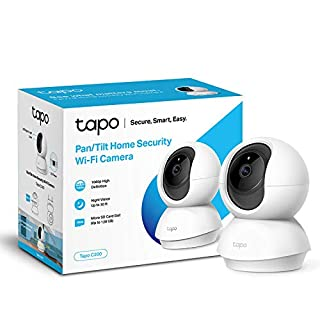 TP-Link Tapo Pan/Tilt Smart Security Camera, Indoor CCTV, 360° Rotational View, Works with Alexa & Google Home, No Hub Required, 1080p, 2-Way Audio, Night Vision, SD Storage, Free Tapo App (Tapo C200) (B07XR2NWZC) | Amazon price tracker / tracking, Amazon price history charts, Amazon price watches, Amazon price drop alerts