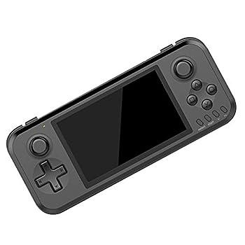 NZYMD Handheld Game Console Portable Video Game Console 4 Inch 10000 Classic Retro Game Console Support Emulator MAME/FC/GB/GBA/GBC/MD/SFC/PS1/N64/PSP/3DS/ATAR 12600/ATARI 7800,Black