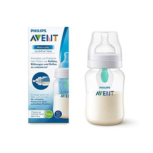 Philips Avent, biberon anti-colica con valvola AirFree, da 125ml, confezione da 1 pezzo, trasparente