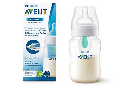 Philips Avent, biberon anti-colica con valvola AirFree, da 260 ml