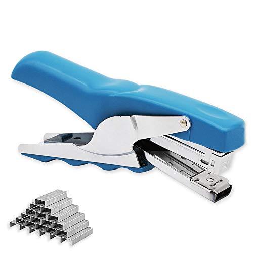 Stapler with 1000 Staples-Plier Stapler Save 60% Power,Good for Stapling at Home School or Warehouse (Blue Plier Stapler)