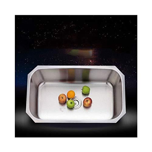 Keukenspoel,1 kommen RVS Enkele kom Keukenspoelbak Onderbouw Vaatwasser Voor Spoelbak Corrosiebestendig Zilver
