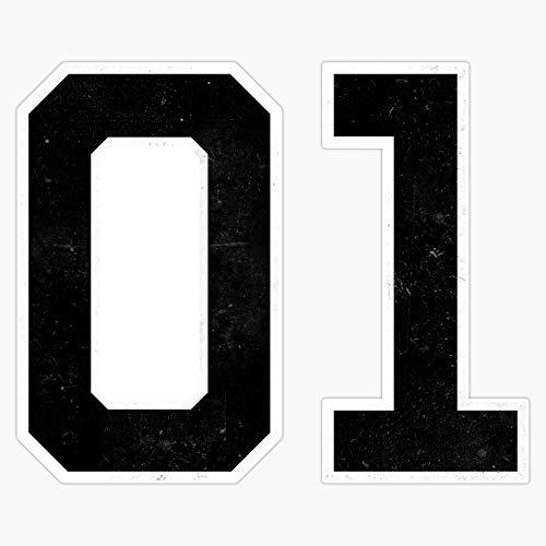 01 General Lee Number Decal Vinyl Bumper Sticker 5'