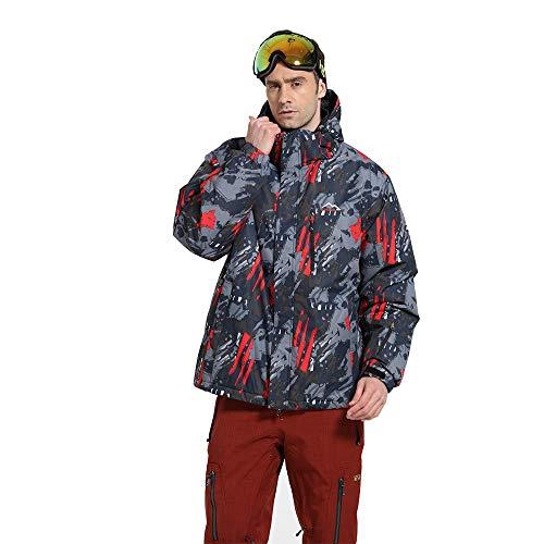 Asdflina-clothes Giacca a Vento Tuta da Sci Set Professionale Abbigliamento da Esterno in Cotone a Doppio Bordo Antivento Professionale (Dimensione : XL)