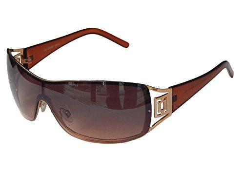 Sonnenbrille Damenbrille Brille Monoglas Moderner Style Damen M 41 (Gold Braun Lila)