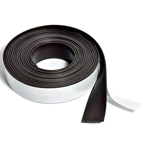 Profesional magnético de cinta adhesiva autoadhesiva | cinta magnética autoadhesivo Tape Magnética para material de presentación, orden | 3m rollo 19mm de ancho x 1,5mm de espesor