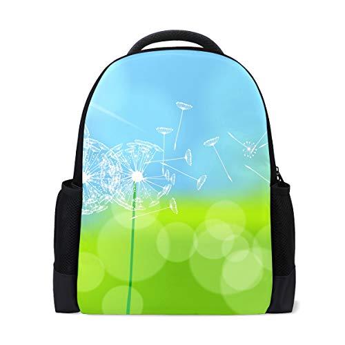 Ahomy Reise-Laptop-Rucksack Meadow Sunlight Pusteblume Tagesrucksack Büchertasche Schultasche für Mädchen Jungen Teenager
