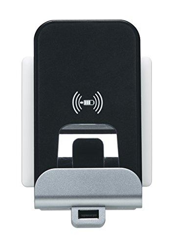 Qi de Wireless Charger + USB Base de carga, cargador inductivo para instalación latas de montaje para, por ejemplo iphone8, iPhone 8Plus, Samsung Galaxy S8y todos los Qi estándar de smartphones con