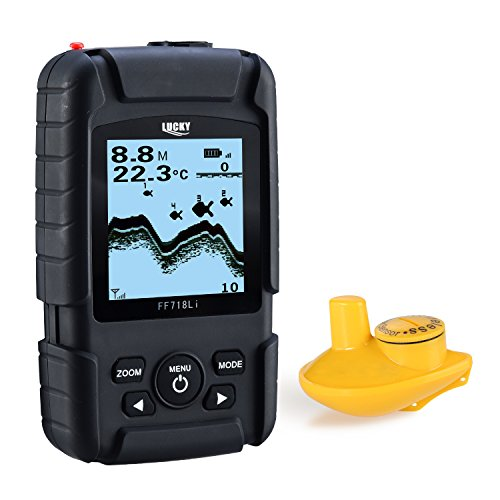 LUCKY Echolot Echt Fisch-Finder Monitor Wireless Sonar Fischfinder