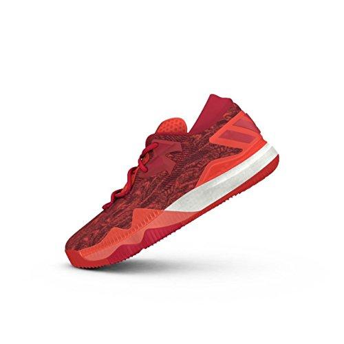 adidas adidas Herren Crazylight Boost Lo Basketballschuhe, Multicolore (Solred/Scarle/Ftwwht), 41 1/3