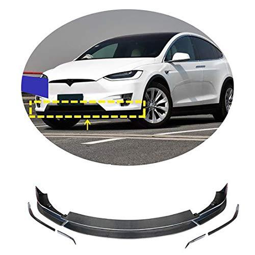 QWASZX Auto Front Stoßstange Lip Splitter Diffusor Spoiler Für T esla Model X 2016-2018, Carbon...