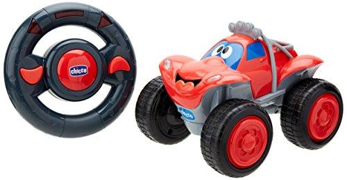 Chicco Billy Bigwheels Ferngesteuertes Auto für Kinder, RC Auto mit Intuitiver Funkfernsteuerung Lenkrad, Lichter und Geräusche, Rot, Geschenk für Kinder ab 2 Jahren, Kinderspielzeug 2 - 6 Jahre