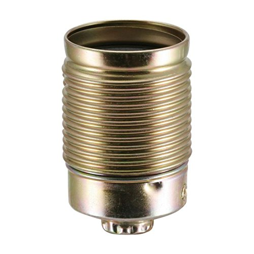 Lampen Metallfassung E27, vermessingt mit Außengewinde