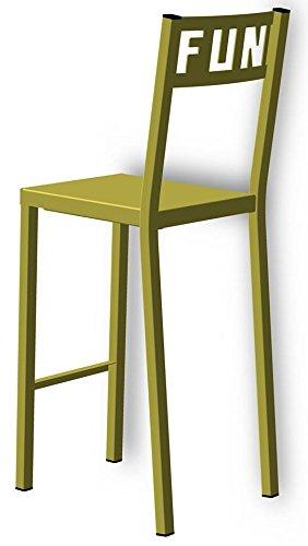Styl'Métal 21 Lot 2 chaises Hautes Fun métal Vert anis
