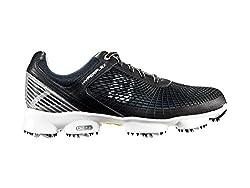 Footjoy HyperFlex, men's golf shoes, black (Black / Silver / Yellow), 44.5 EU (10 men's UK)