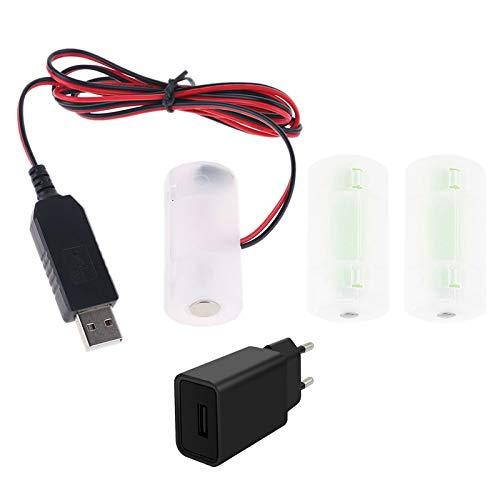 Alimentatore di rete per climatizzatore a batteria, sostituisce 1-4 pezzi 1,5 V C LR14, adattatore per climatizzatore LED, orologio elettrico, albero di Natale