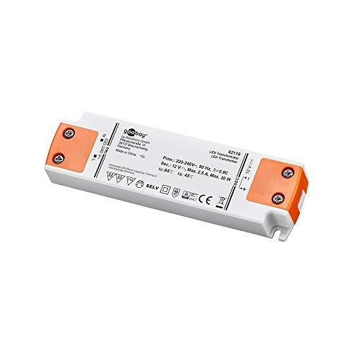 Goobay LED-Trafo 12 V (DC)/30 W Dimmbar, 12 V DC für LEDs bis 30 W Gesamtlast