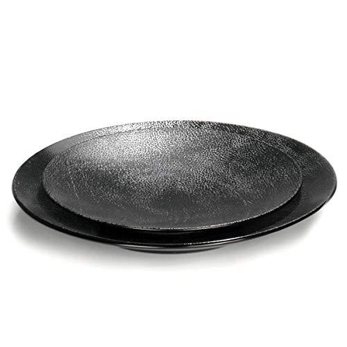 Lambert - Kaori - Rochen Optik - Platzteller, Teller, Platte, Tortenplatte - Ø: 34,5 cm - mit Metallir Rochen Optik - Steingut
