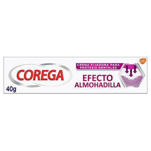 Corega, Efecto Almohadilla, Crema Fijadora para Prótesis Dentales, Fijación Fuerte durante todo el Día, 40 g