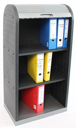 Mendler Universal Kunststoff Rollladenschrank Büro Jalousie Schrank 120x58x38cm