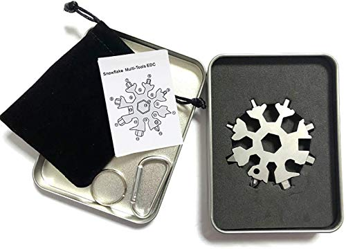 Snowflake Multi Tool 18 in 1 for Daily and Camping Silver
