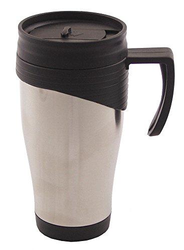 tasse, inox, a double paroi, 400 ml, poignee plastique