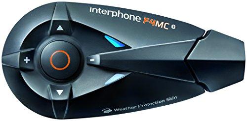 Interphone F4MC Twin-Pack - Kit manos libres para moto (conexión Bluetooth 3.0,...