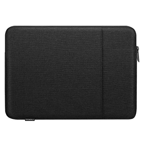 MoKo 13 Inch Laptop Sleeve, Carrying Bag Case Zipper Cover with Pocket Fits MacBook Air Retina 13.3 2018, MacBook Air 13.3 2019/2020, Macbook Retina 12 2015/2016, iPad Pro 12.9' 2018/2020 - Black