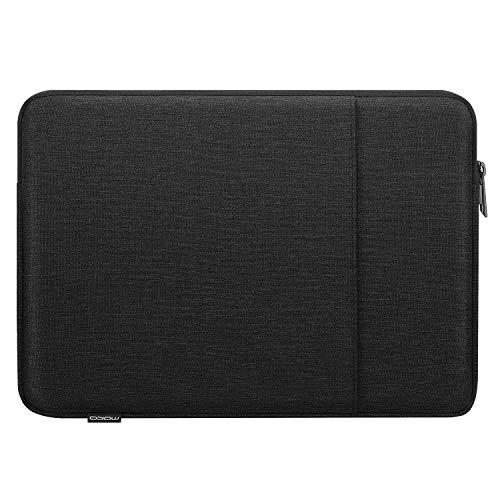 MoKo Sleeve Tasche Kompatibel mit MacBook Air Retina 133 2018 MacBook Air 133 20192020 iPad Pro 129 20182020 Polyesterfaser Laptophulle mit Reisverschluss und 2 Tasche Tablet Hulle Schwarz