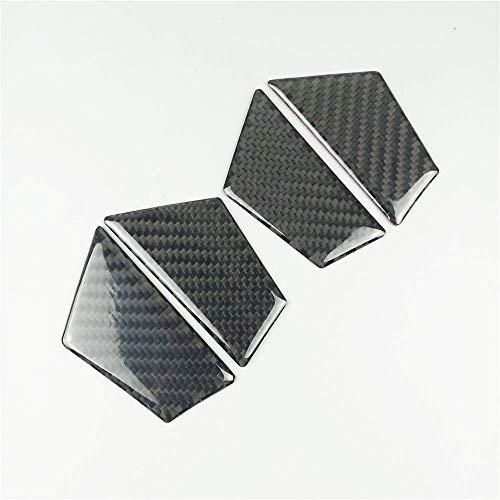 ZNBH Para A3 8V A4 B8 A5 Q3 Q5 A6 C7 Interior del Coche Fibra de Carbono Puerta Tazón Decoración Cubierta Etiqueta de Ajuste Auto Interior Hardware Decorativo (Tamaño: A4 B8)