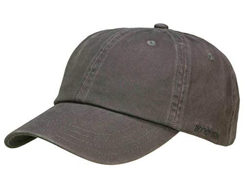 Stetson Rector Baseballcap mit UV-Schutz aus Baumwolle - Anthrazit (32) - One Size