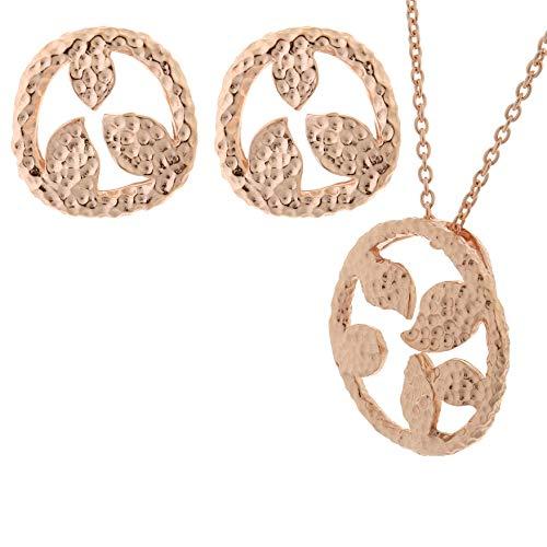 Orphelia Donna 925_argento Placcato in oro rosa Parure di gioielli SET-6023/1