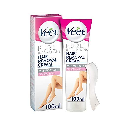 Veet Haarentfernungscreme/Enthaarungscreme/Lotusmilch & Jasmin/seidig glatte Haut/sexy Beine/normale Haut/ 3 Minuten Einwirkzeit/ 100ml