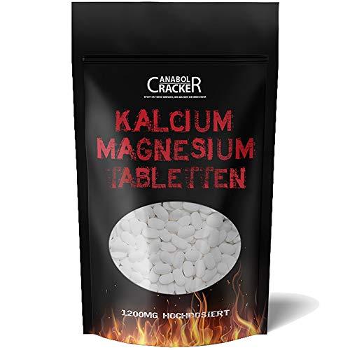 550 Tabletten Kalzium & Magnesium, Calcium 1200mg Hochdosiert/Tagesportion, für Veganer geeignet