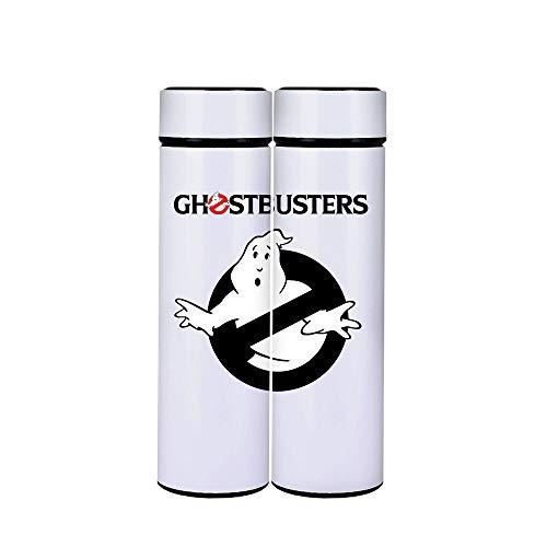 Ghostbusters Con un filtro de agua puede ser empujado grabado con frasco de vacío patrones de texto de acero inoxidable con aislamiento térmico de doble capa y grabado texto matraz de vacío de acero i