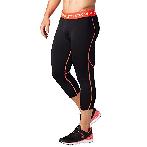 Zumba Fitness Heren Let It Sync in Crop Leggings mannen onderkant