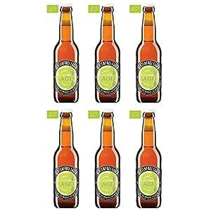 オーガニックビール グルテンフリーラガー 330ml x 6本 ヨーロッパ有機認定ビール 遺伝子組み換え無しの原材料を使用して醸造した切れ味の良い美味しいビール