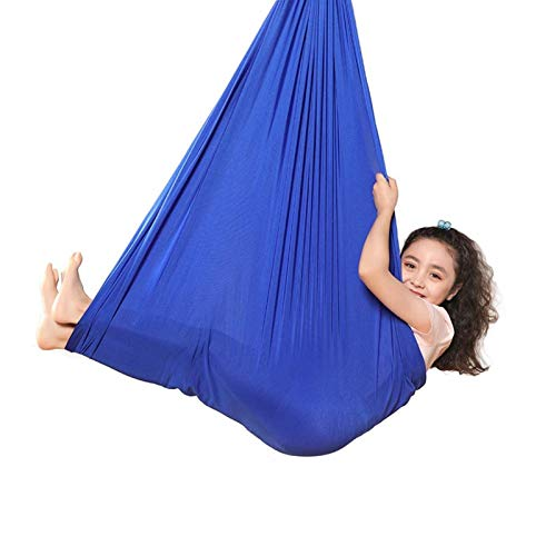 zyy Hamaca for Niños Swing De Terapia hasta 200 KG Suave con Necesidades Especiales Yoga Y Integración Sensorial Al Aire Libre (Color : Blue, Size : 150x280cm/59x110in)