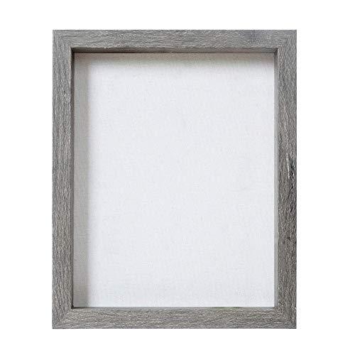 Egleson Tief Bilderrahmen zum Befüllen 3D 20 x 25 cm Holz Grau 1 Stück, Objektrahmen als Deco oder Geschenk für Geburstag