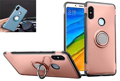 GarHold Funda Xiaomi Redmi Note 5 Case,Silicona antichoque TPU+PC Cover,360° Patada giratoria Imanes de Coche,Protección Doble Funda...