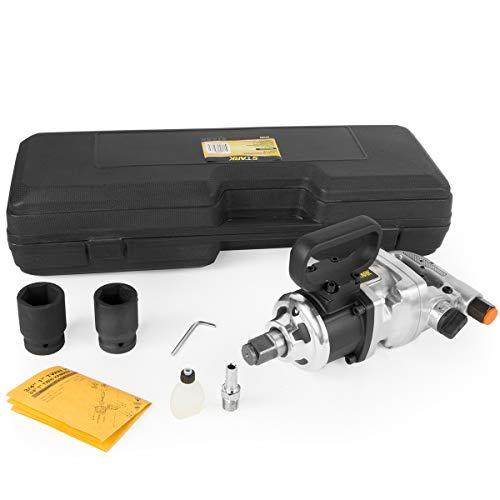 """Stark Commercial 1"""" Air Impact Wrench Gun Pneumatic Short Shank Truck Mechanics Socket 38mm & 41mm Set Carrying Case"""