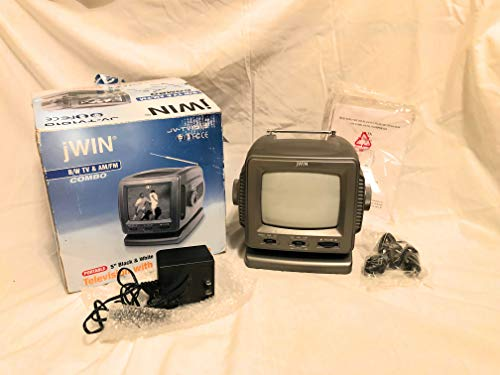 'Jwin Jvtv1010B 5.5'' B&W Ac/Dc Portable Tv With Am/Fm Radio (Black) '