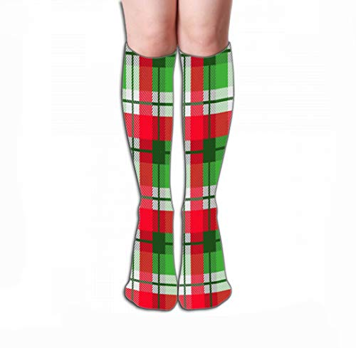 """Compression Socks for Women & Men - Best for Running, Athletic Sports, Crossfit, Flight Travel 19.7""""(50cm) plaid tartan classic christmas colors cozy blanket plaid fabric flannel shirt Lovely"""