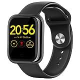 """Wordcam Smartwatch, 1.3"""" Reloj Inteligente, Reloj Deportivo con Pulsómetro, Presión Arterial,Cronómetros, Calorías, Podómetro, Fotografía Remota, Monitor de Sueño, IP68 Smart Watch para Android iOS"""